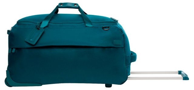 "27"" Foldable 2-Wheel Duffel, Aqua"