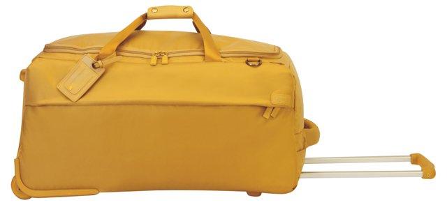 """27"""" Foldable 2-Wheel Duffel, Mustard"""