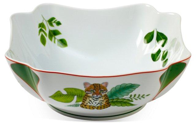 Porcelain Rainforest Serving Bowl