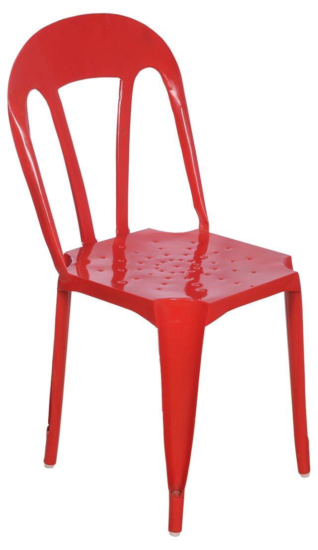 Kullu Metal Chair, Red