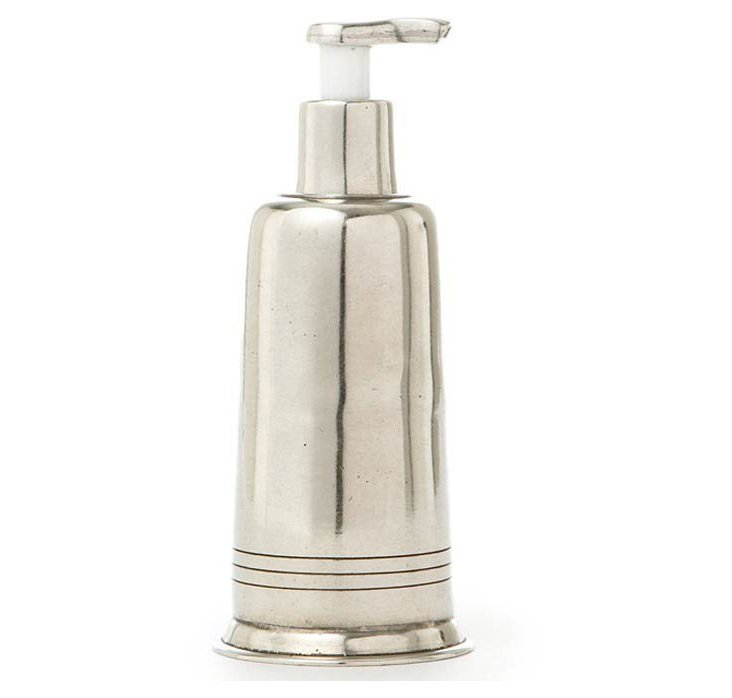 Pewter Soap Dispenser, Silver