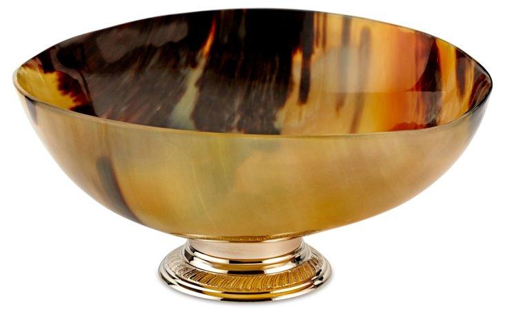"8"" Horn Bowl w/ Nickel Base"