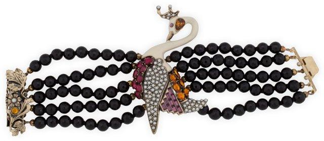 Swan Multi-Strand Bracelet