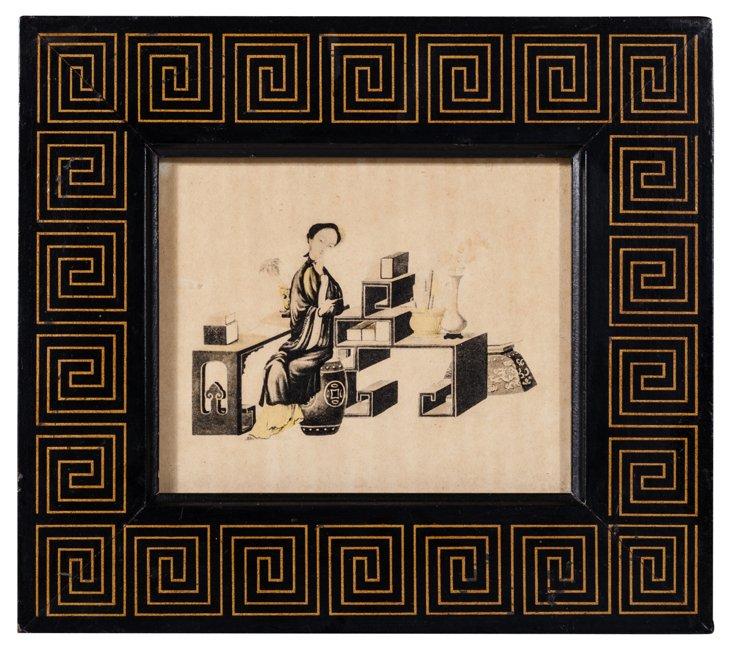 Print of Japanese Man at Desk