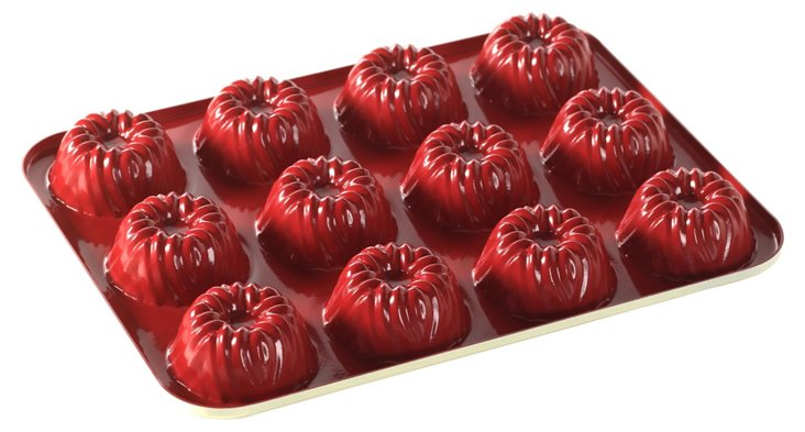 Bite Size Bavaria Bundt Pan, Red