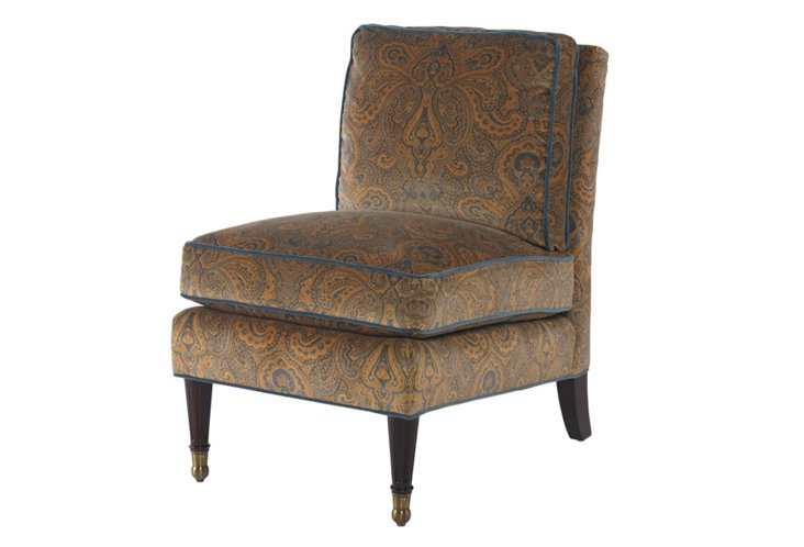 Caxton Chair, Turquoise