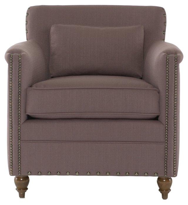 Robbins Club Chair, Aubergine
