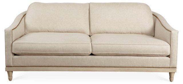 "Maguire 83"" Sofa, Light Beige/White"