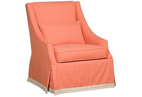 Houston Swivel Chair, Coral