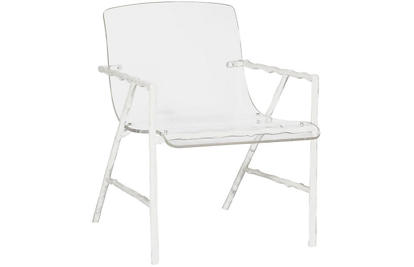 Sullivan Acrylic Chair, Porcelain White