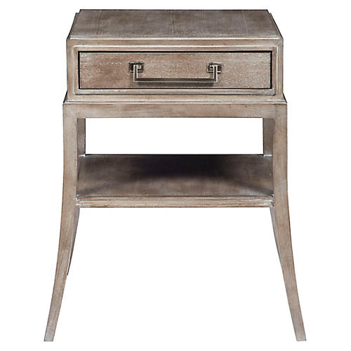 Sevara Nightstand, Graywash