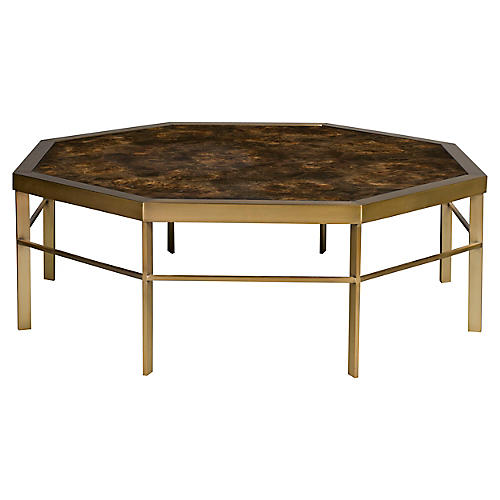 Pestana Coffee Table, Brass