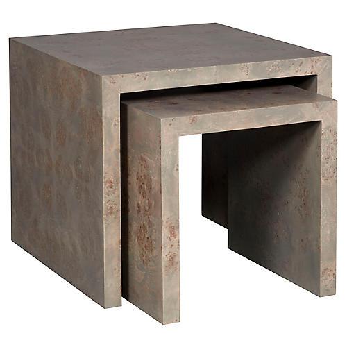 Asst. of 2 Rosun Nesting Tables, Light Gray