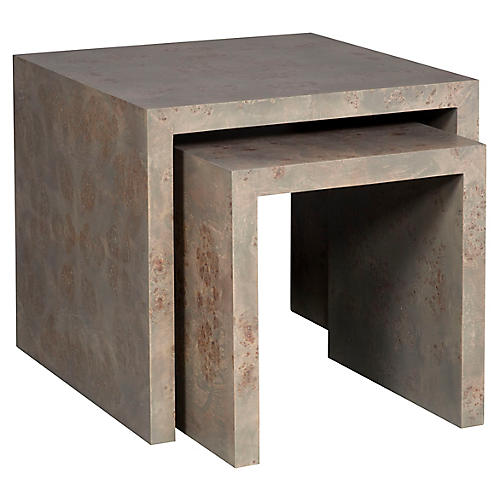 Asst. of 2 Rosun Nesting Tables, Light Gray