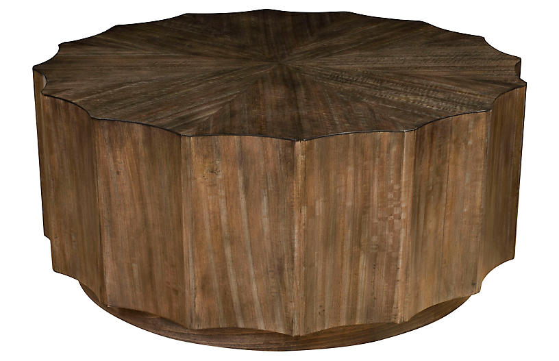 Octavia Shaded Coffee Table, Natural