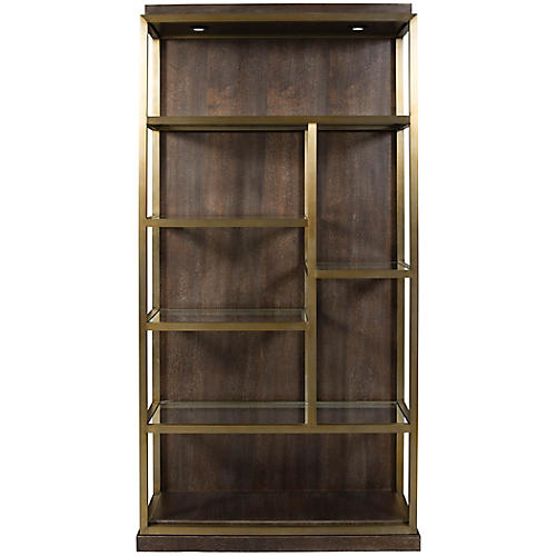 Beacon Left Bookshelf Walnut