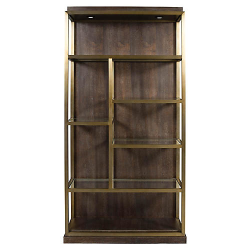 Beacon Right Bookshelf Walnut