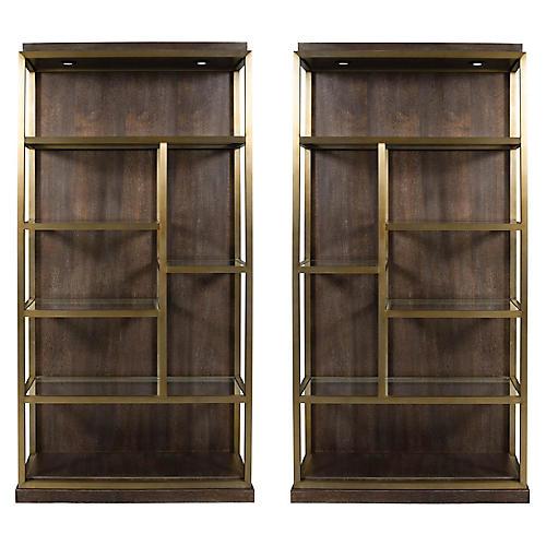 s2 beacon bookcases walnut - Elegant Bookshelves