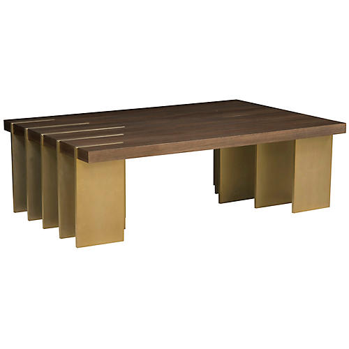 Ben Coffee Table, Brown/Gold