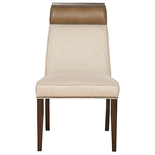 Brighton Side Chair, Beige/Latte