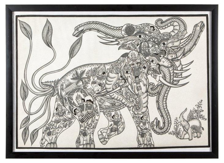 Elephant Drawing III