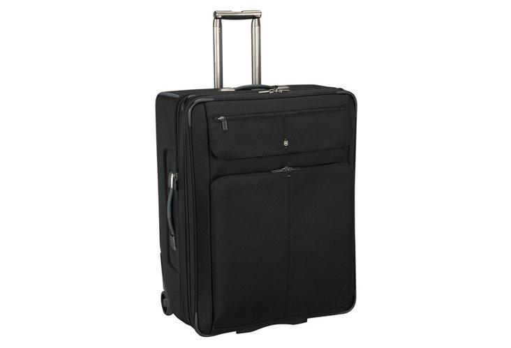 """27"""" Tourbach Expandable Suitcase, Black"""