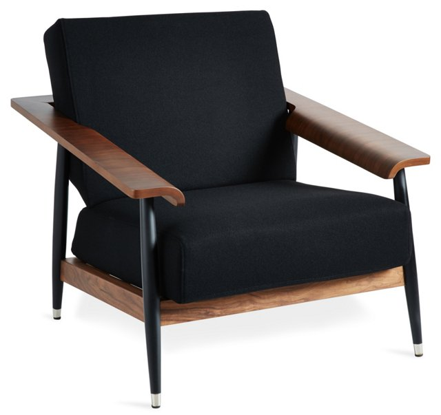 Lars Lounge Chair, Black