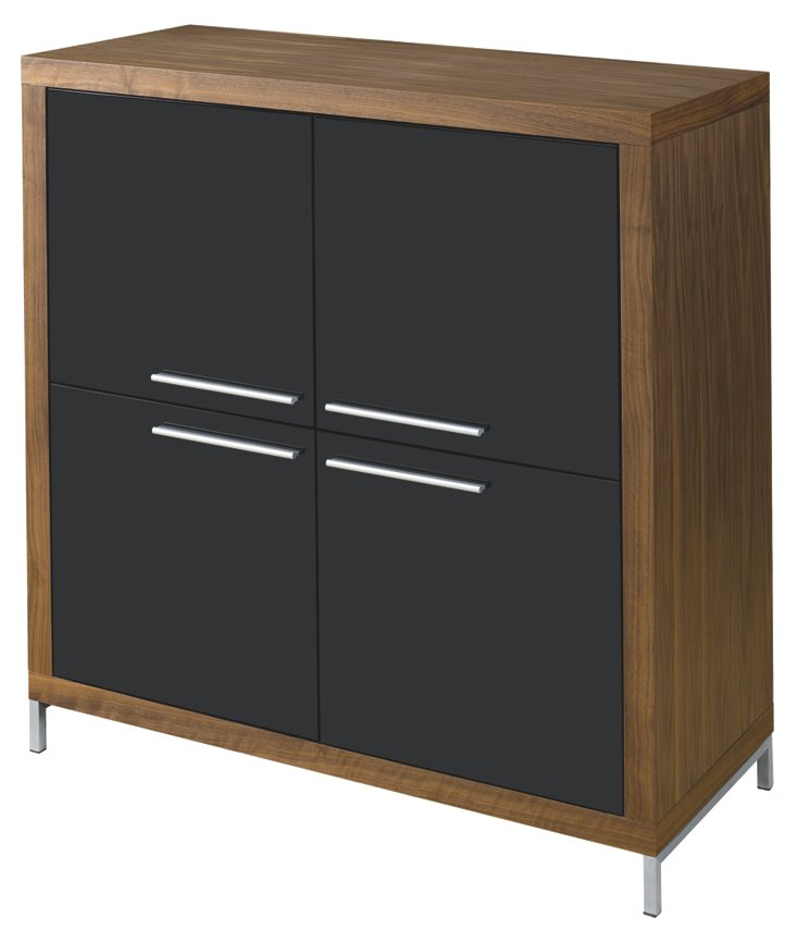 Silva Cabinet, Walnut/Black