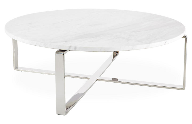Rosa Dia Coffee Table, White