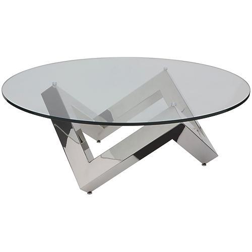 Como Modern Round Coffee Table