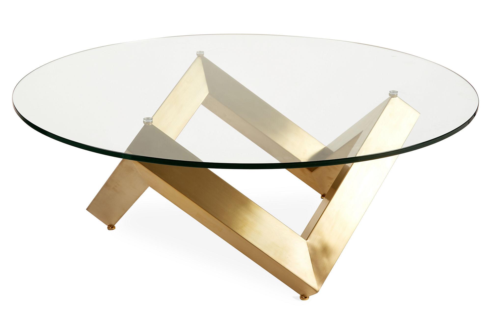 Gold Metal Coffee Table Base One Kings Lane