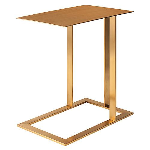 """Celine 21"""" Side Table, Gold"""