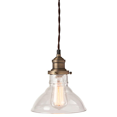 Dakota 1-Light Pendant, Clear