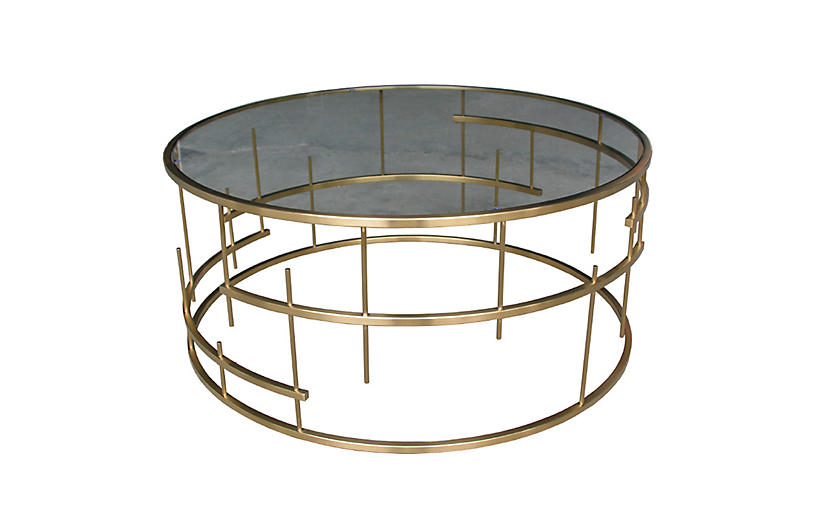 Loyola Coffee Table, Gold