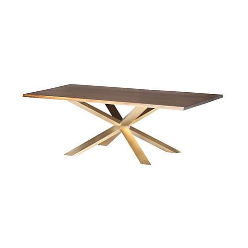 Jackson Dining Table, Oak/Gold