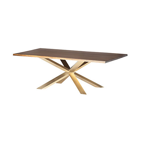 Jackson Dining Table, Oak/Gold