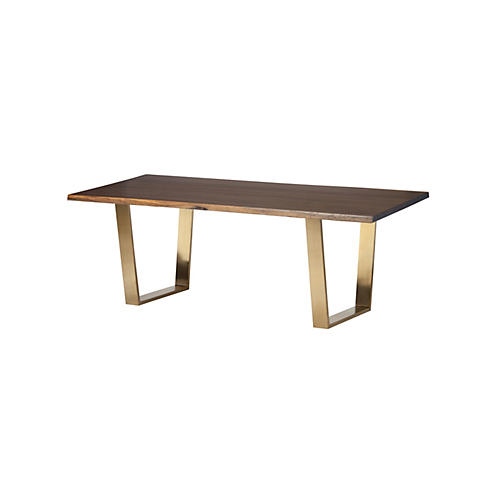 Toulouse Dining Table, Oak/Gold
