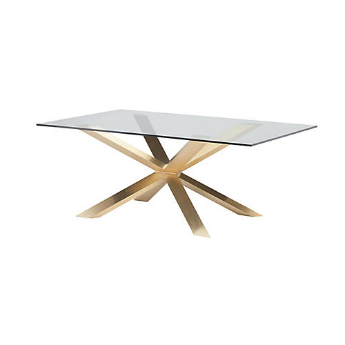 "Couture 78"" Dining Table, Gold"