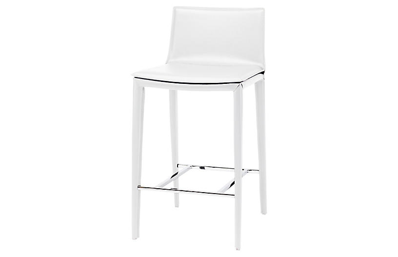 Libby Counter Stool, White
