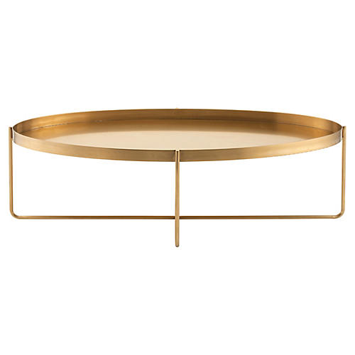 Yves Coffee Table, Gold