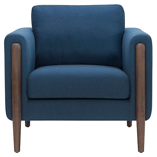 Steen Accent Chair, Lagoon Blue