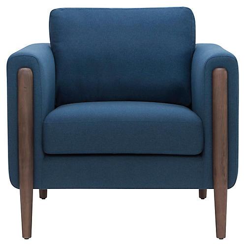 Steen Accent Chair, Lagoon Blue