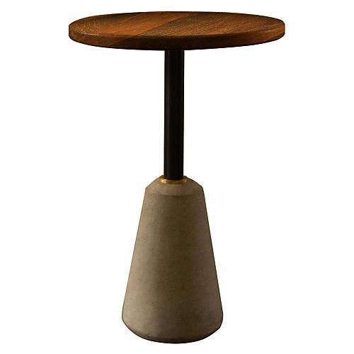 Exeter Side Table, Fumed Oak