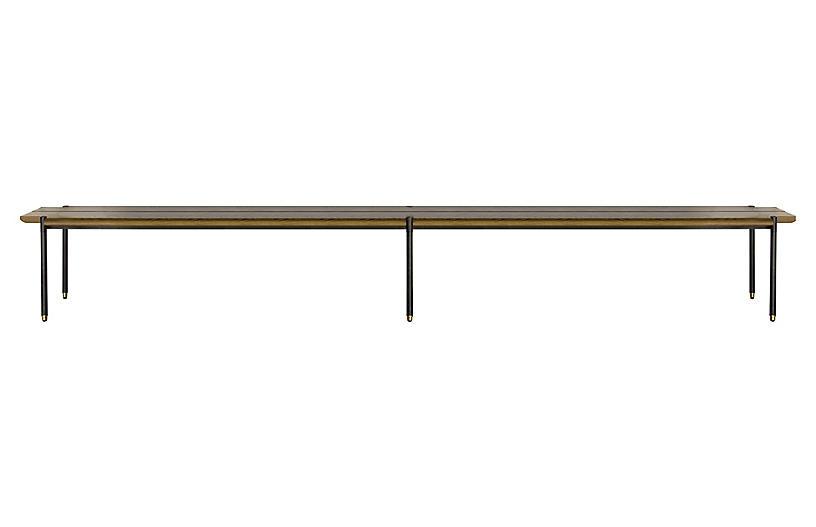 Iron Bench, Fumed Oak