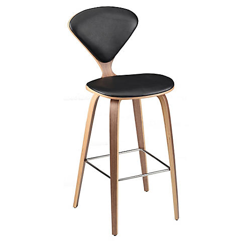Satine Barstool, Black Leather