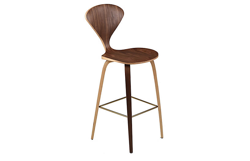 Satine Barstool, Walnut