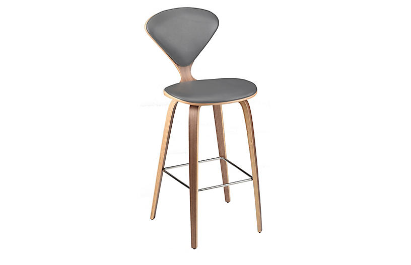 Satine Barstool, Gray Leather