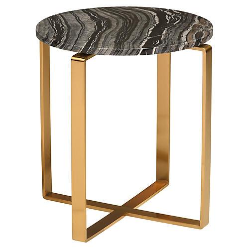 Rosa Side Table, Black/Gold
