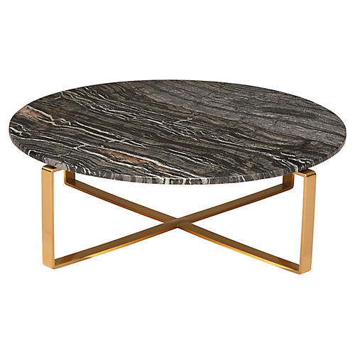 Rosa Coffee Table, Black/Gold