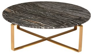 rosa coffee table, black/gold - coffee tables - living room